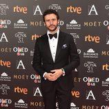 Diego Martín en la alfombra roja de los Goya 2017