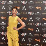 Toni Acosta en la alfombra roja de los Goya 2017