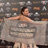 Cuca Escribano en los Premios Goya 2017