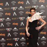 Nieves Álvarez en la alfombra roja de los Goya 2017