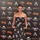 Laura Domínguez en la alfombra roja de los Goya 2017