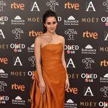 Macarena García en la alfombra roja de los Goya 2017