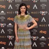 Bárbara Lennie en la alfombra roja de los Goya 2017