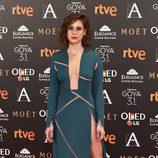 Manuela Vellés en la alfombra roja de los Goya 2017