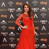 Paula Echevarría en la alfombra roja de los Goya 2017