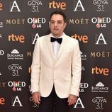 Daniel Guzmán en la alfombra roja de los Goya 2017