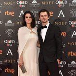 Alicia Rubio y Raúl Arévalo en los Premios Goya 2017