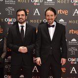 Pablo Iglesias y Alberto Garzón en los Premios Goya 2017
