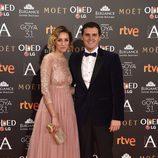 Albert Rivera y Mariona Saperas en los Goya 2017