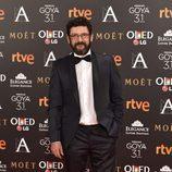 Manolo Solo en la alfombra roja de los Goya 2017