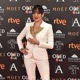 Candela Peña en la alfombra roja de los Premios Goya 2017