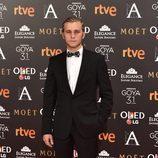 Emilio Palacios en la alfombra roja de los Goya 2017