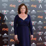 Eulalia Ramón en la alfombra roja de los Goya 2017