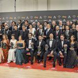 Foto de familia en los Goya 2017