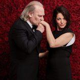 Lluís Homar y Nora Navas en la gala de los premios Goya 2017