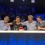 Francisco González, Nacho Guerreros, Javivi y Octavi Pujades en 'El gran reto musical'