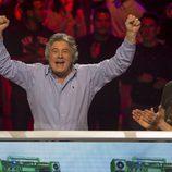 Francisco celebra un punto en 'El gran reto musical'