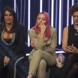 Aída Nízar, Daniela Blume e Irma Soriano en la sala de expulsión durante la sexta gala de 'GH VIP 5'