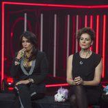 Aída Nízar e Irma Soriano en la sala de expulsión de la sexta gala de 'GH VIP 5'