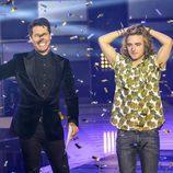 Jaime Cantizano proclama a Manel Navarro como ganador de la final de 'Objetivo Eurovisión'
