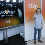 Manel Navarro en una rueda de prensa de RTVE