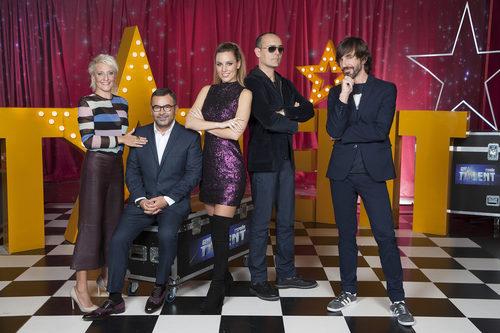 El jurado y el presentador de 'Got Talent España'