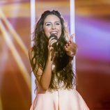 Mirela Cabero canta en la gala de 'Objetivo Eurovisión'