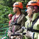 Rojo Cangrejo y Corina en 'Viajeras con B' durante su estancia en Costa Rica