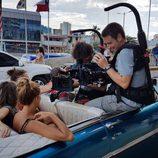 Rojo Cangrejo y Corina Randazzo en el Paseo de la Habana durante 'Viajeras con B'
