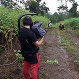 Rojo Cangrejo y Corina pasean a caballo en 'Viajeras con B'