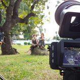 Corina Randazzo y Rojo Cangrejo en la grabación de 'Viajeras con B'
