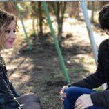 Carlota García y Javier Cidoncha en el reencuentro de 'El internado'