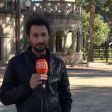 Raúl Fernández durante la grabación del reencuentro de 'El internado'
