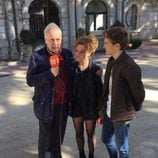 Pedro Civera, Carlota García y Javier Cidoncha en la grabación del reencuentro de 'El internado'