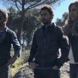 Ismael Martínez, Raúl Fernández y Marta Hazas en el reencuentro de 'El internado'