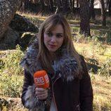 Marta Hazas durante la grabación del reencuentro de 'El internado'