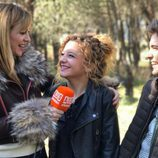 Marta Hazas, Carlota García y Javier Cidoncha en el reencuentro de 'El internado'