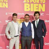 """Miguel Bernardeau, Luis Mottola y Miki Esparbé en el preestreno de """"Es por tu bien"""""""