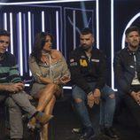 Alonso, Aída, Tutto y Toño esperan los resultados de la audiencia en la novena gala de 'GH VIP 5'