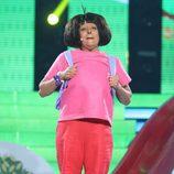 Yolanda Ramos es Dora, la exploradora en la segunda semifinal de 'Tu cara me suena'