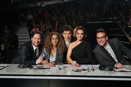 El jurado de 'Tu cara me suena' junto a Manel Fuentes en la segunda semifinal