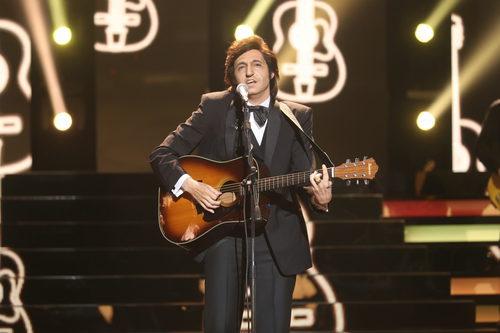 David Guapo es Jonny Cash en la segunda semifinal de 'Tu cara me suena'