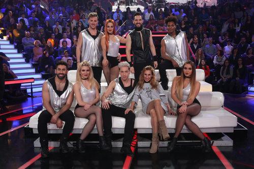 Los bailarines del programa en la segunda semifinal de 'Tu cara me suena'