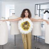 Cristina Rodríguez posa entre maniquíes para 'Cámbiame Challenge'