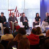 Cesc Gay y parte del reparto de 'Félix' en la rueda de prensa de la serie de suspense