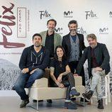 El reparto de 'Félix' y Cesc Gay, su director, en la rueda de prensa de la serie