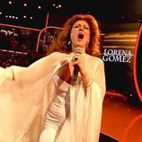 Lorena Gómez enseña un pezón en la final de 'Tu cara me suena'