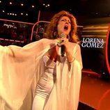 Lorena Gómez muestra un pecho durante su actuación en la final 'Tu cara me suena'
