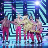 Yolanda Ramos imita a la cantante Raffaella Carrá en la gala final de 'Tu cara me suena 5'