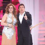 Rosa López y Manel Fuentes, en la gala final de 'Tu cara me suena 5'